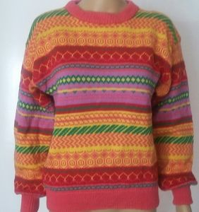 Multicolor ribbed sweater